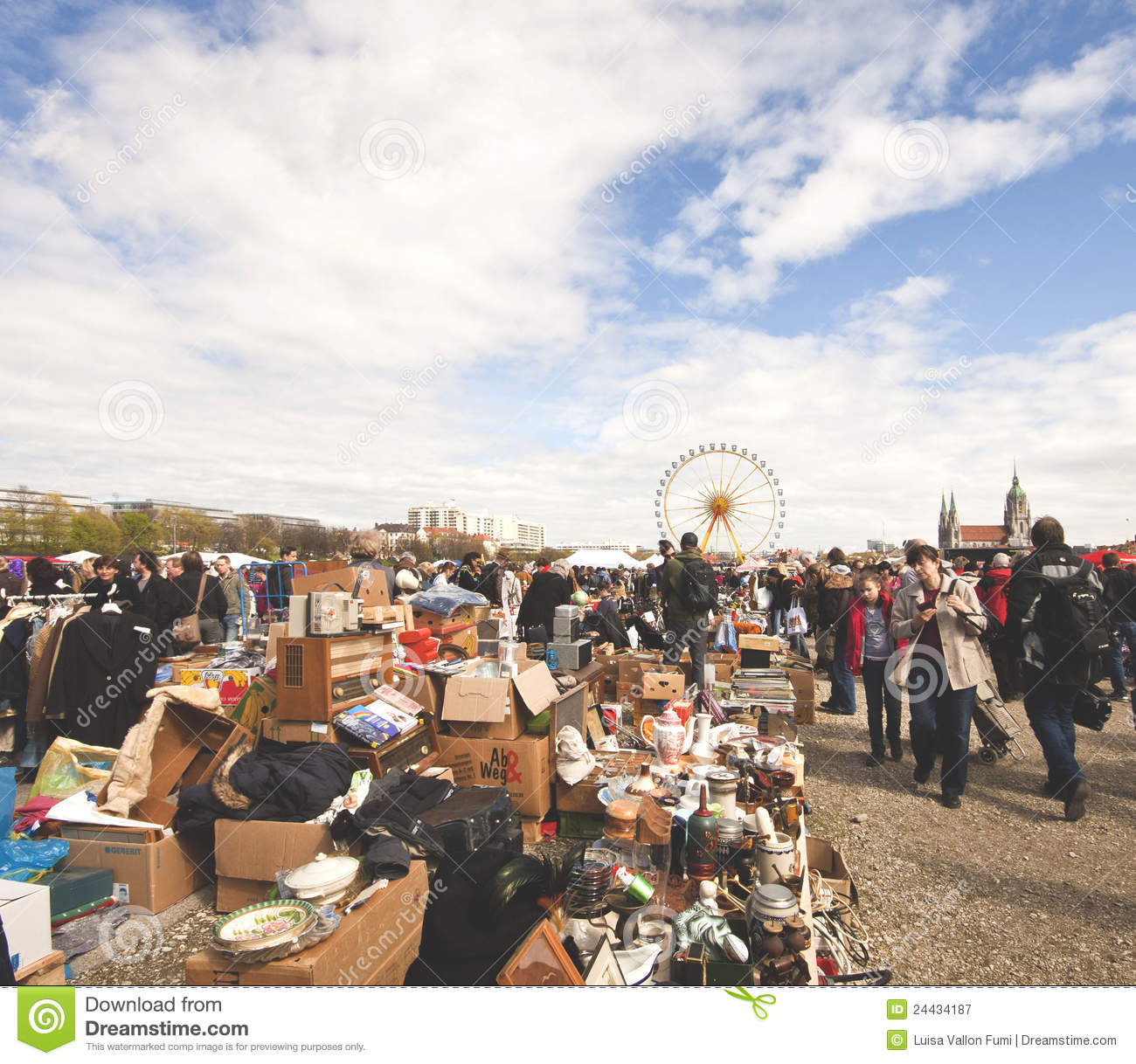 Stock Markets Open Time Munich Open Air Flea Market Editorial Photography Image