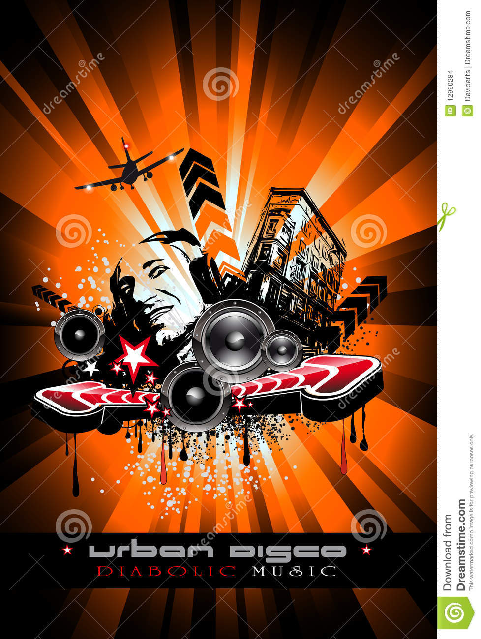 3d Crazy Wallpaper Music Event Background With Crazy Dj Stock Images Image