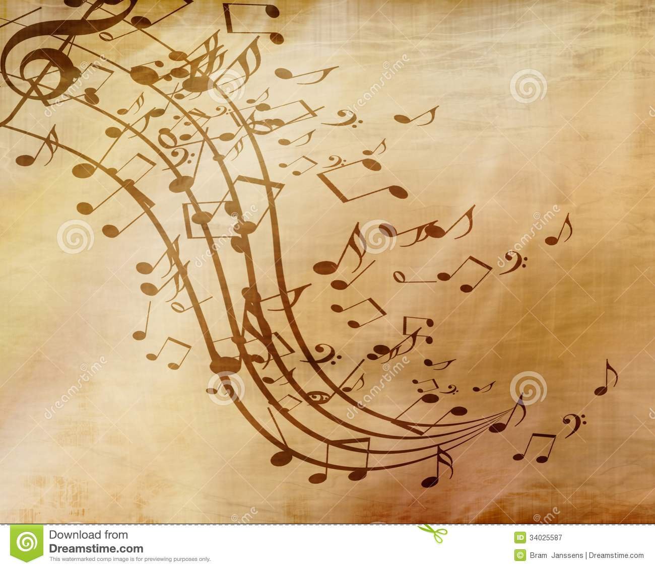 Fall Colored Background Wallpaper Music Sheet Royalty Free Stock Photography Image 34025587