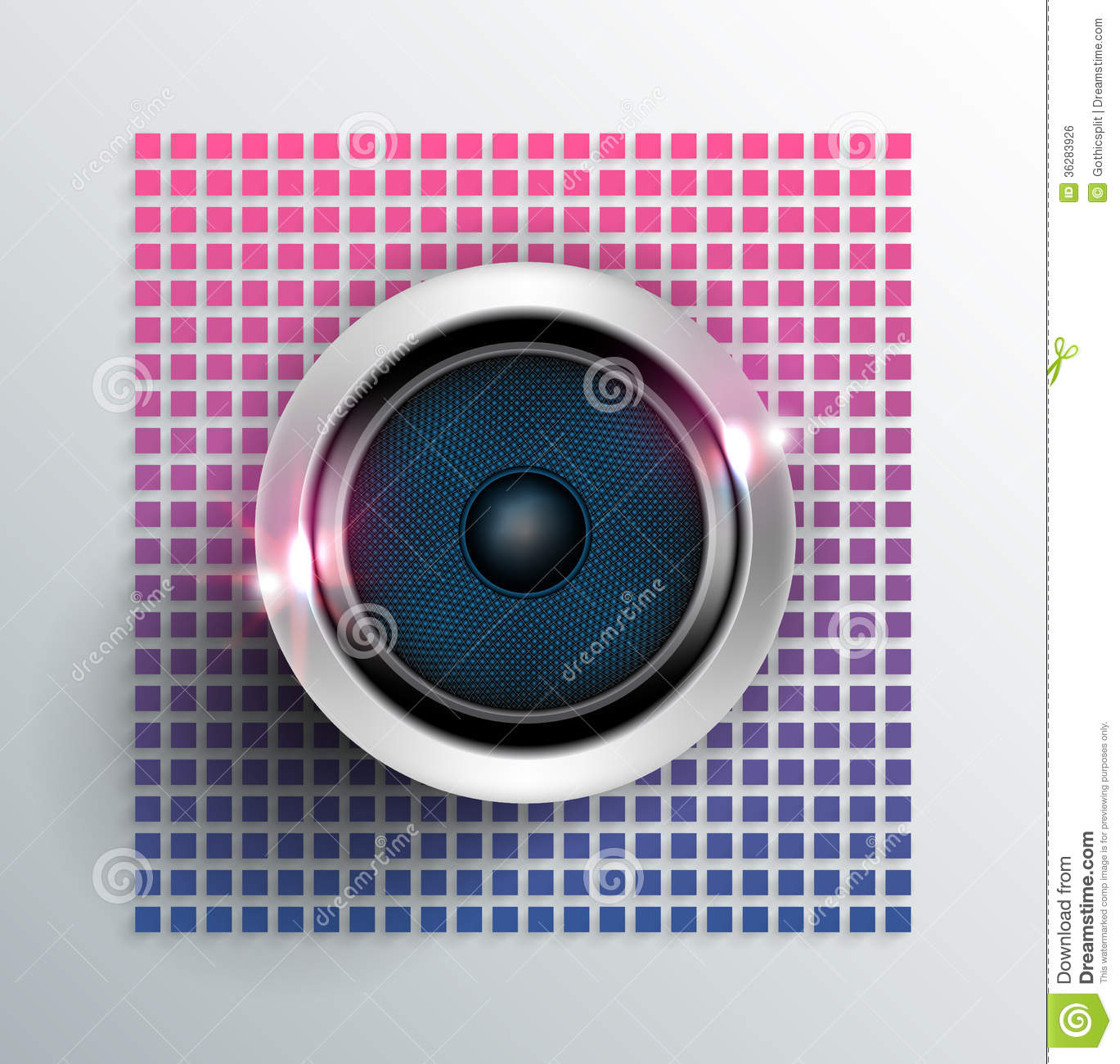 Cool Music Speakers Music Speaker Royalty Free Stock Image Image 36283926