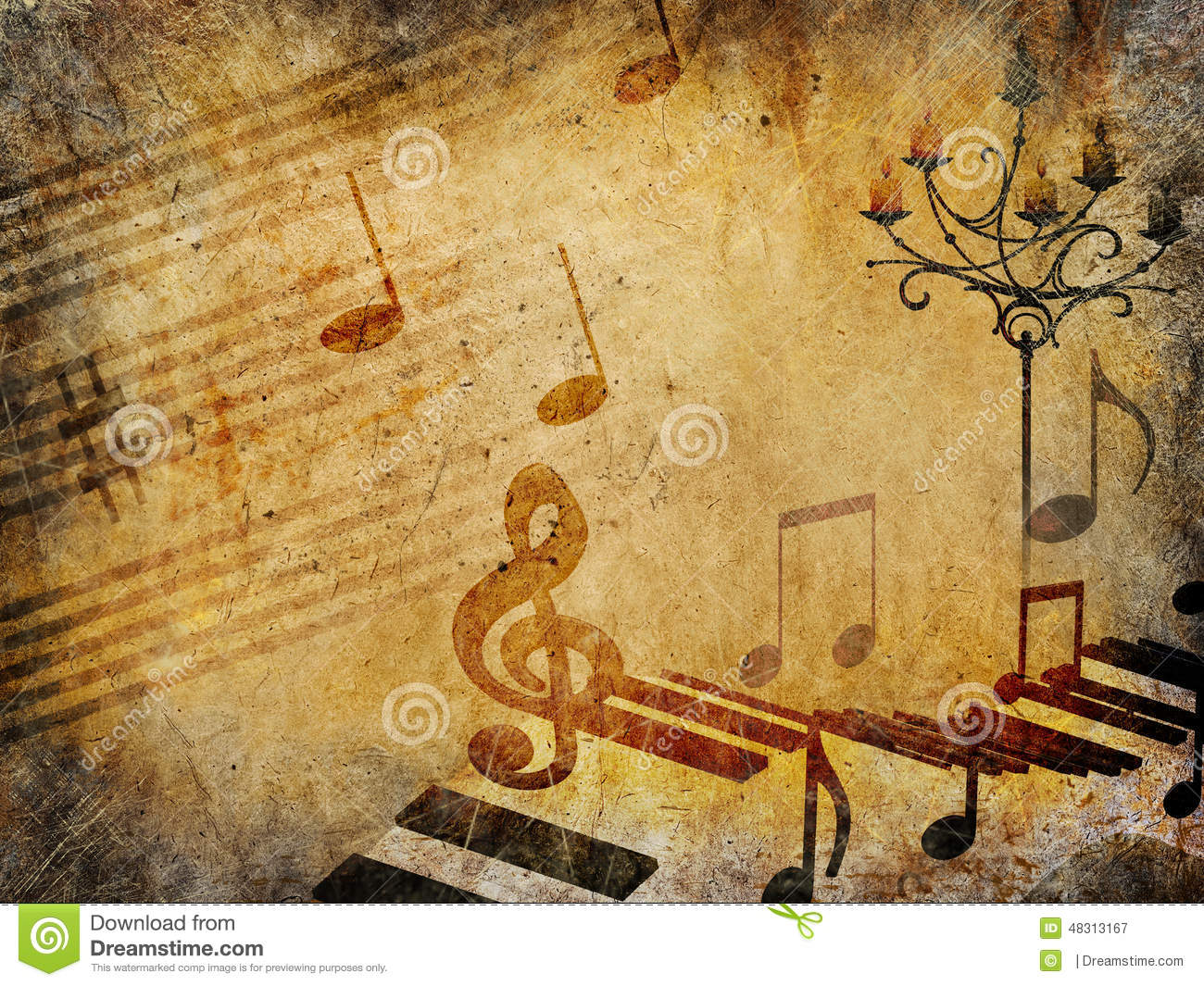 Wallpaper Border For Teenage Girl Music Vintage Background Grunge Style Stock Illustration