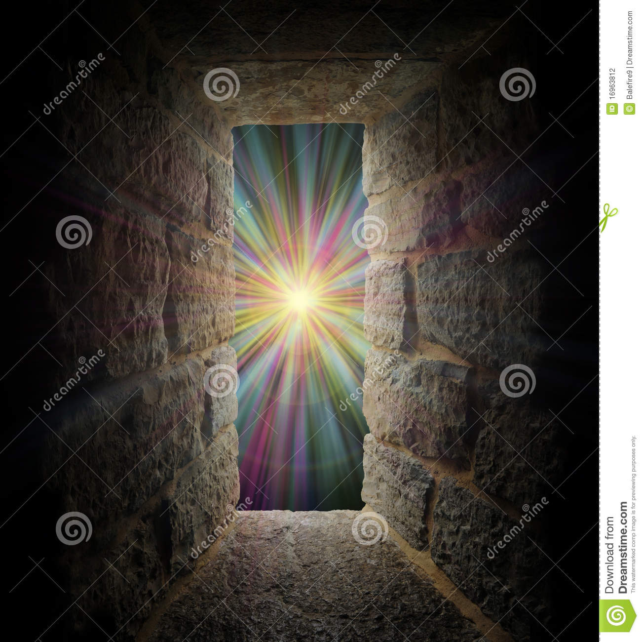 Fall Forest Wallpaper Mystical Stone Window Or Portal To A Pastel Vortex Stock