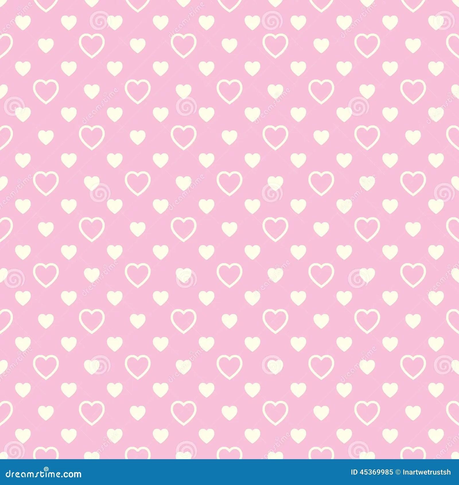 Wallpapers 3d Hello Kitty Gratis Naadloos Patroon Met Beige Harten Op Roze Achtergrond
