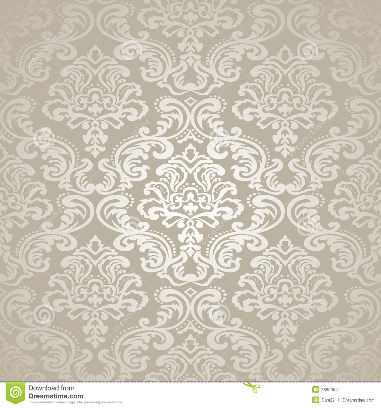 Papel Para Revestir Paredes Nahtlose Tapete Des Muster Background Damask Stockbild
