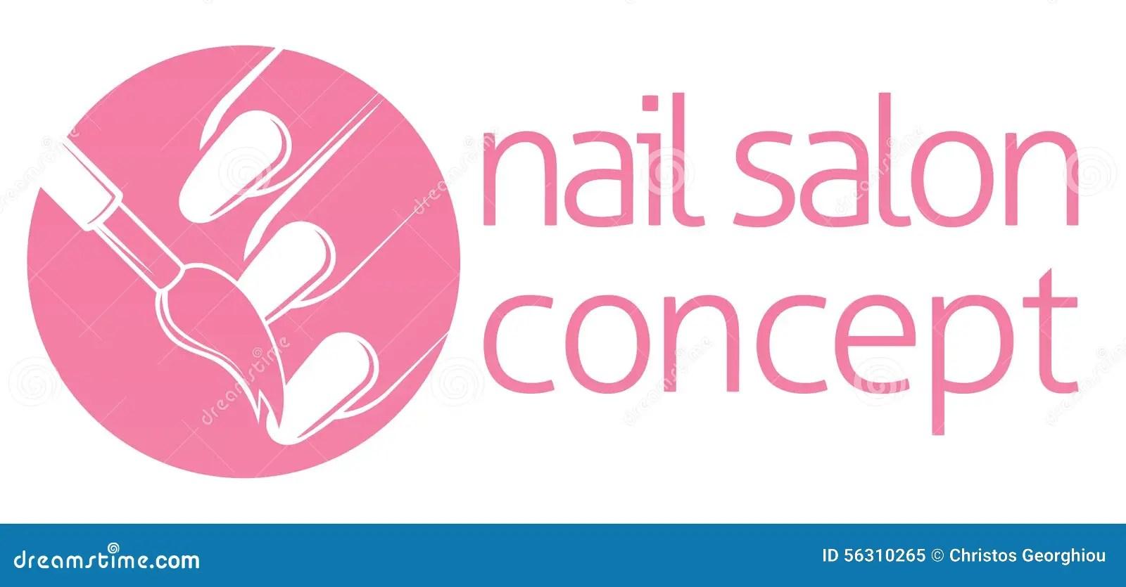 Thefinanceresource Free Hair Salon And Nail Salon Nail Salon Or Bar Concept Stock Vector Image 56310265