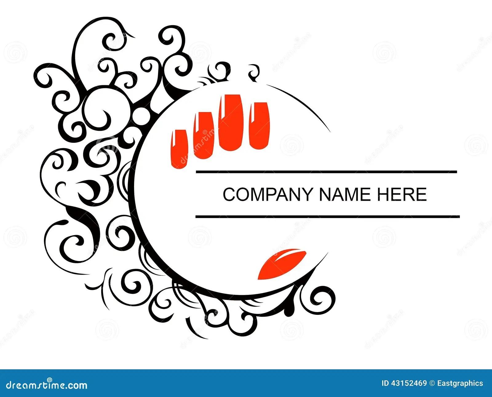 Cute Nail Arts Wallpaper Nails Salon Logo Stock Vector Image 43152469