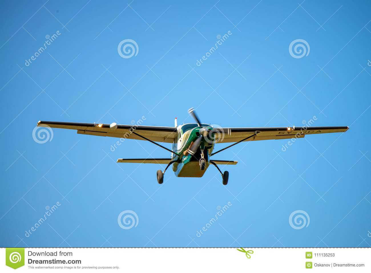 Cessna Plane Nairobi Kenya January 2 2015 Cessna Plane In Air Editorial
