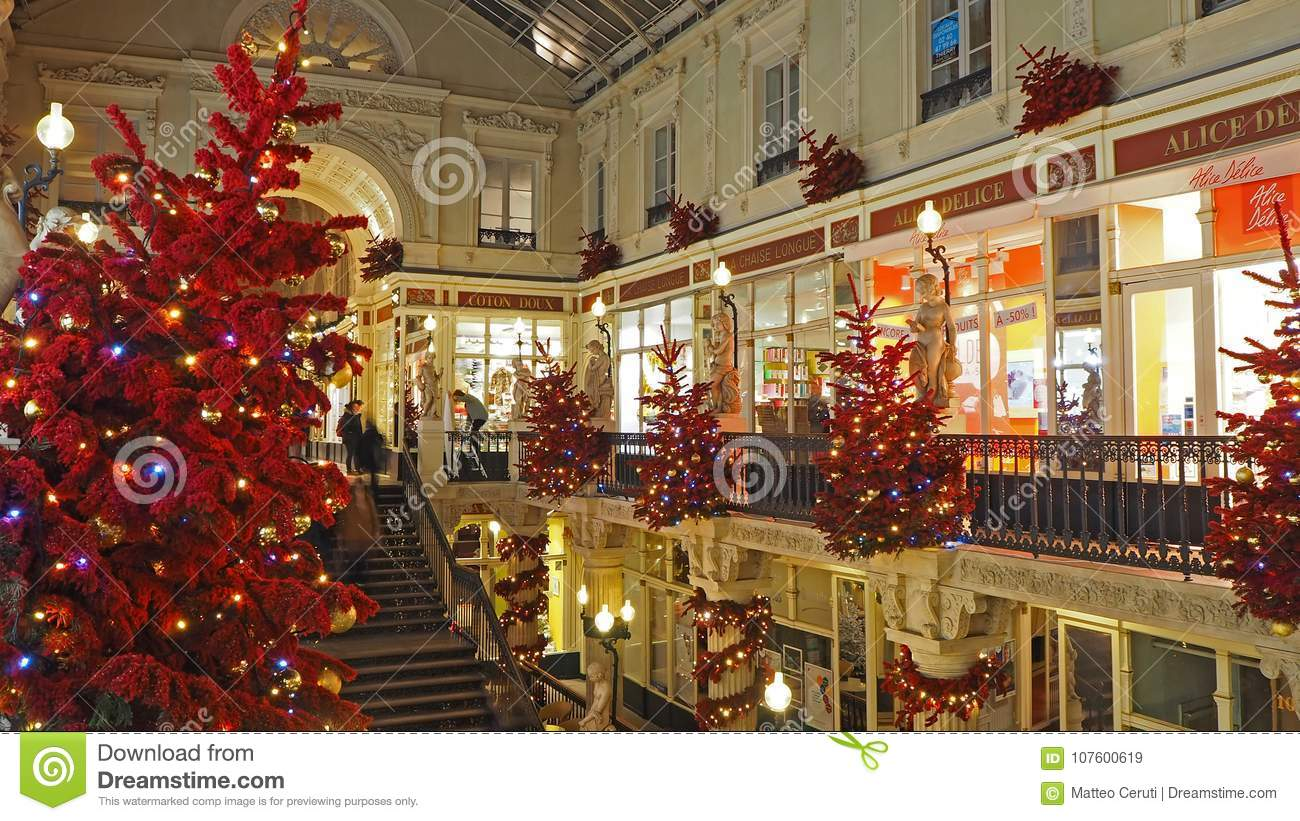 Coton Doux Nantes Nantes France The Shopping Mall Pommeraye During Christmas Time
