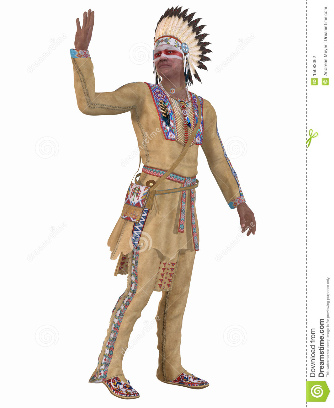 3d Colour Wallpaper Native American Indian Cheyenne Stock Photography