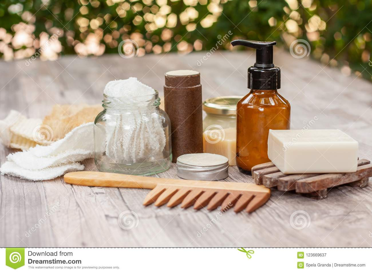 Natural Items For A Zero Waste Bathroom Stock Image Image Of Healthy Health 123669637