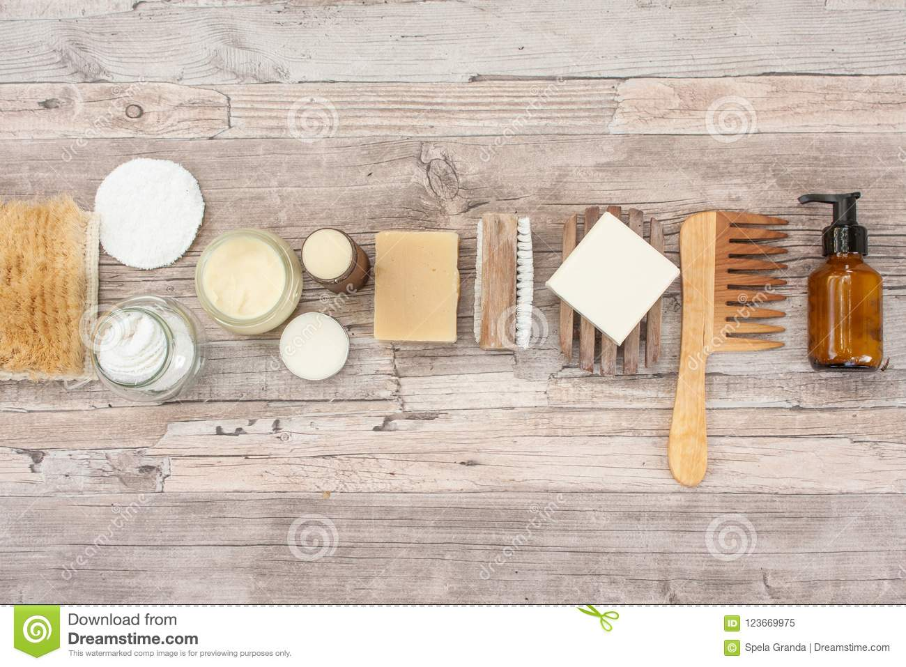 Natural Items For A Zero Waste Bathroom Stock Image Image Of Butter Items 123669975