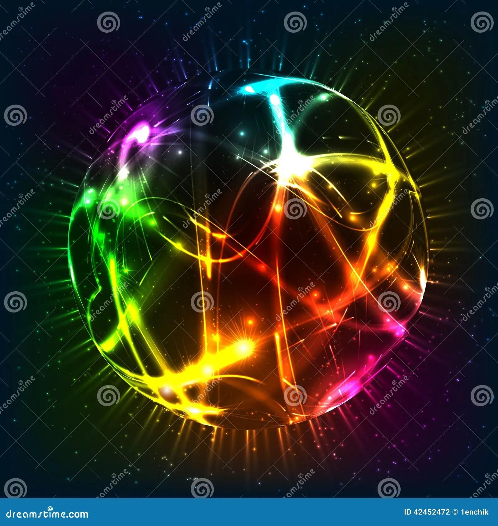 Neon Shining Vector Sphere Stock Vector Image 42452472