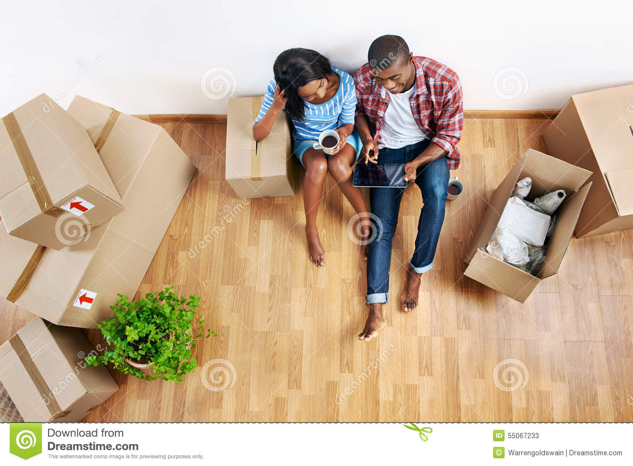 Young Couple Apartment New Apartment Couple Stock Photo Image 55067233