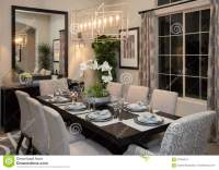 New Modern Home Fine Formal Dining Room Stock Photo ...