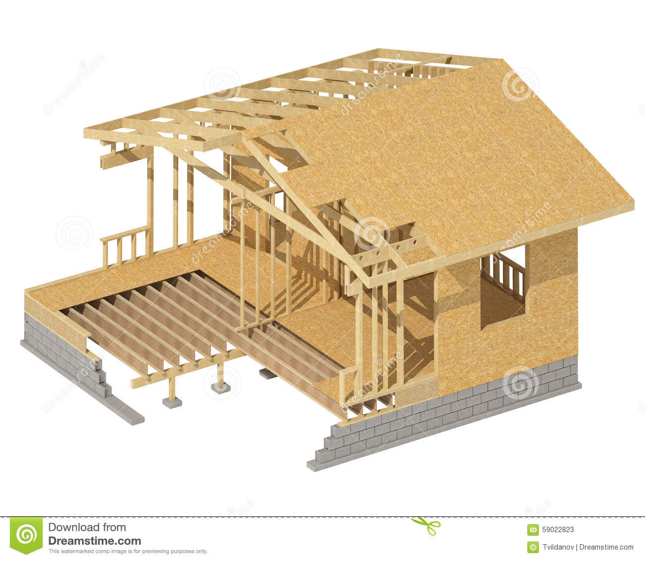 To Residential Construction New Residential Construction Home Wood Framing Stock Image