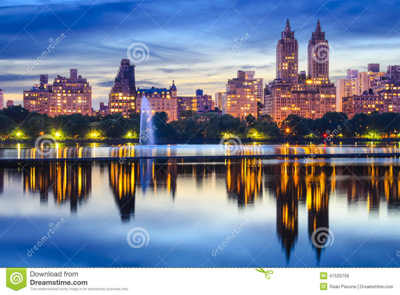 New York Bilder New York City Central Park Skyline Stock Photo Image Of