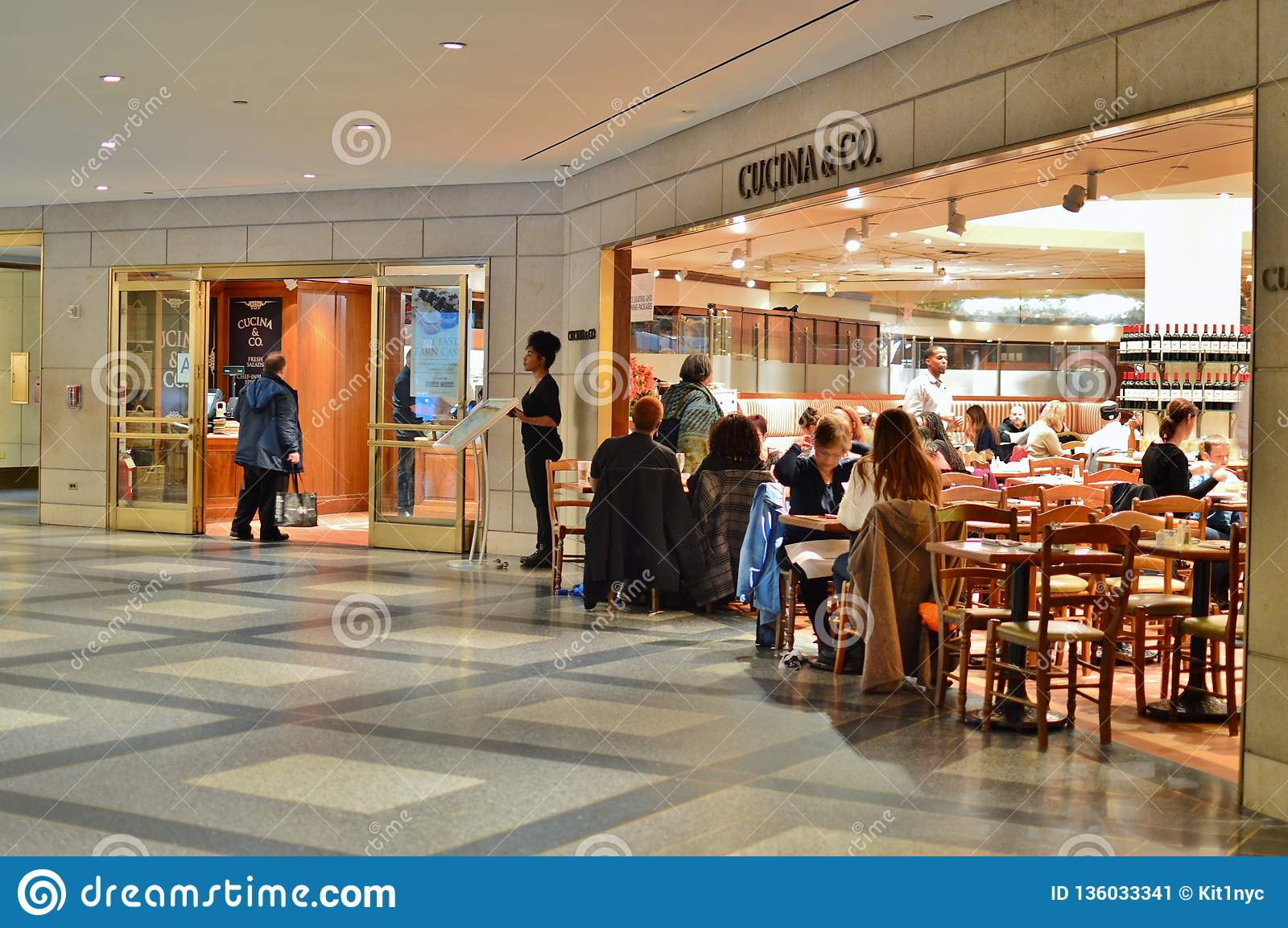 Cucina & Co Rockefeller Center New York City Dining Restaurant Café People Eating Food