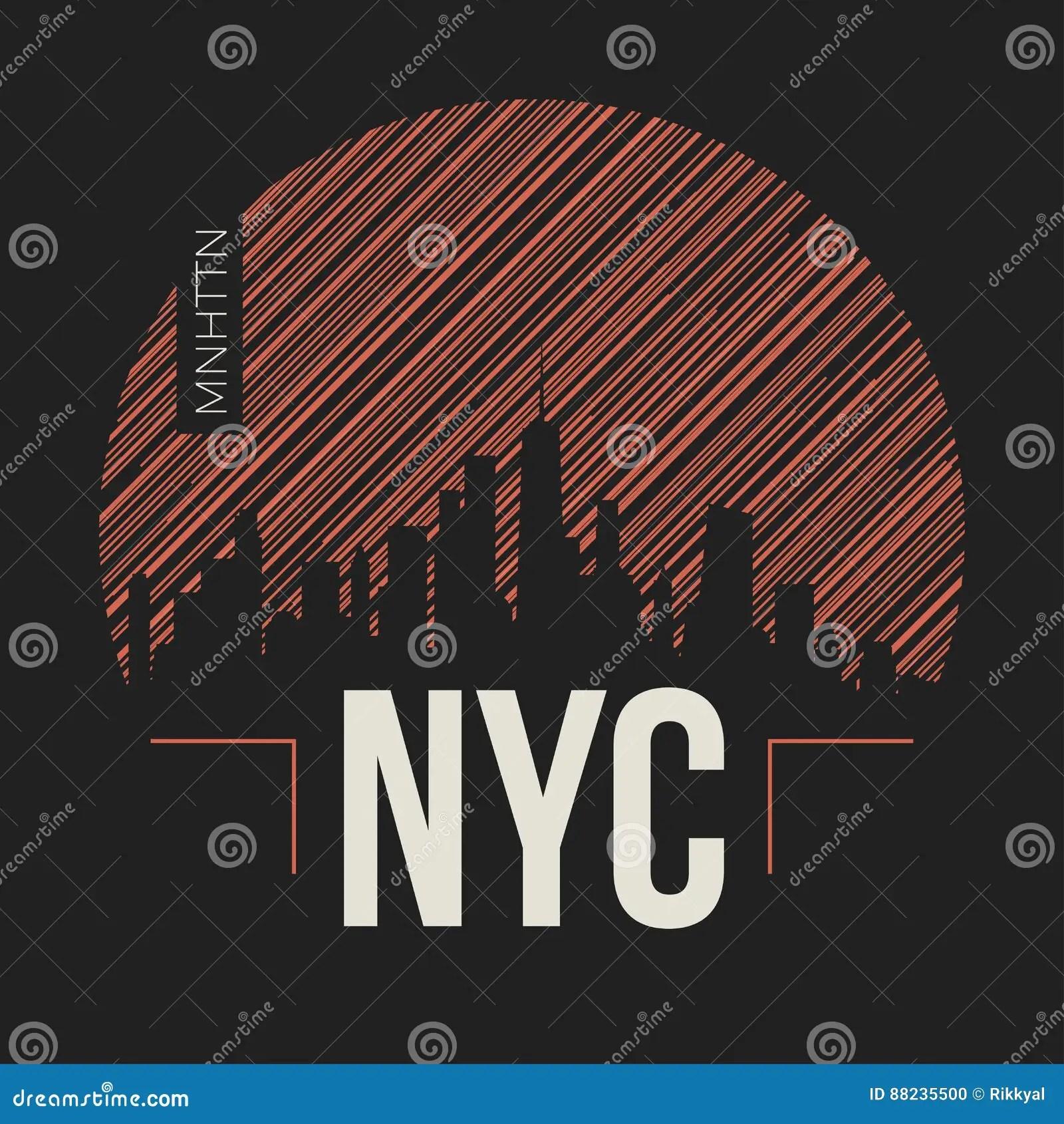 New York City Graphic, T-shirt Design, Tee Print, Typography Stock
