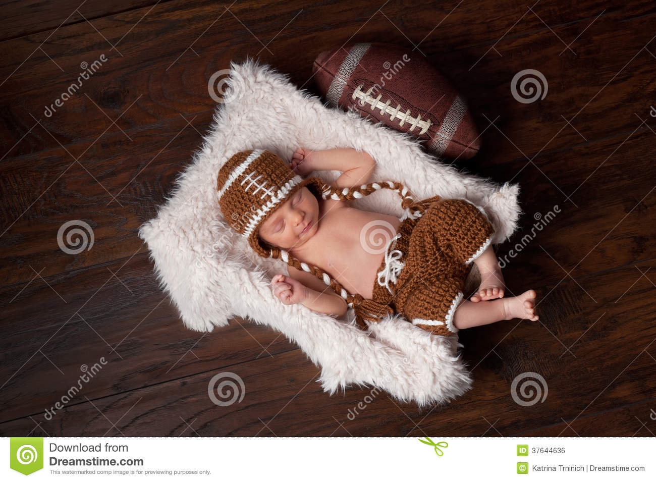 Newborn Infant Outfits Newborn Baby Boy In Football Outfit Stock Photo Image Of