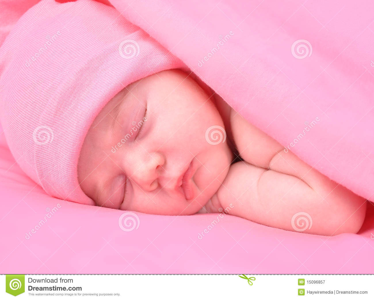 Newborn Babies With Blue Eyes Newborn Baby Girl Sleeping With Blanket And Hat Royalty