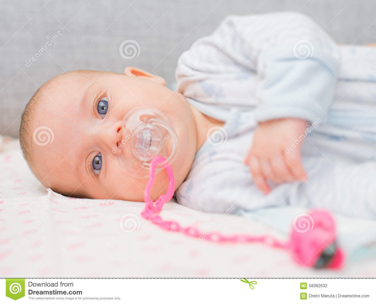 Newborn Babies For Dummies Newborn Little Baby With Dummy Stock Photo Image Of