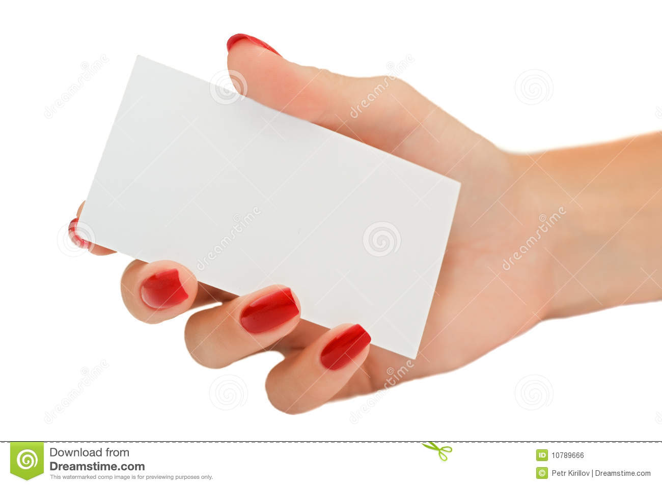 Cute Nail Arts Wallpaper Nice Female Hand Holding A Blank Business Card Royalty
