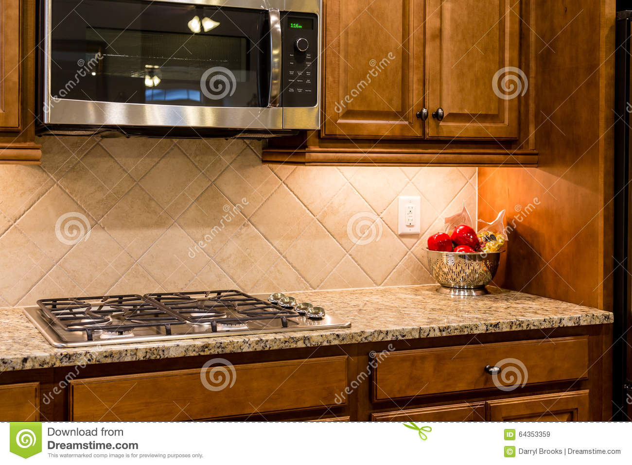 Gas Countertop Stoves Nice Granite Countertop With Gas Range Stock Image Image