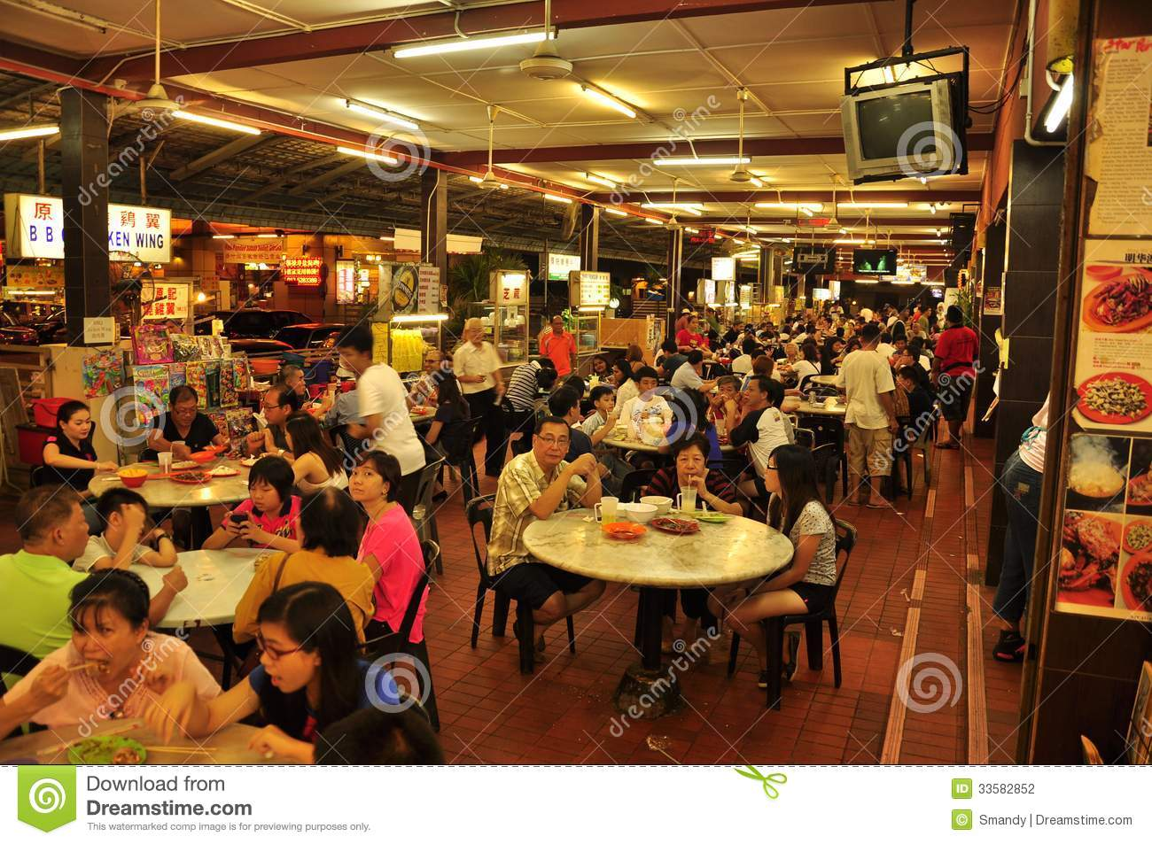 Stock Markets Open Time Night Food Market In Malaysia Editorial Photography