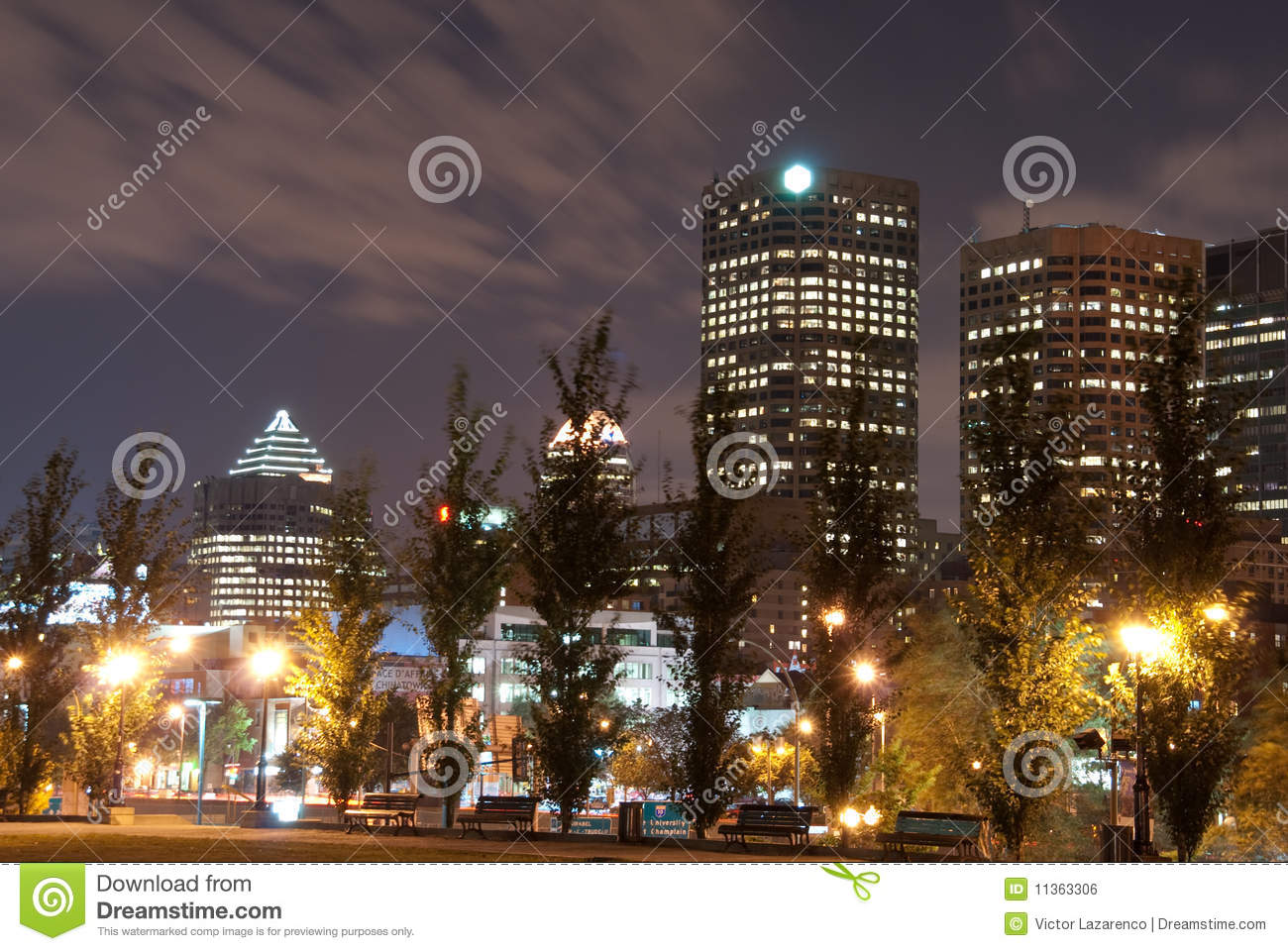 Lights Montreal Night Lights Of Montreal Royalty Free Stock Image Image