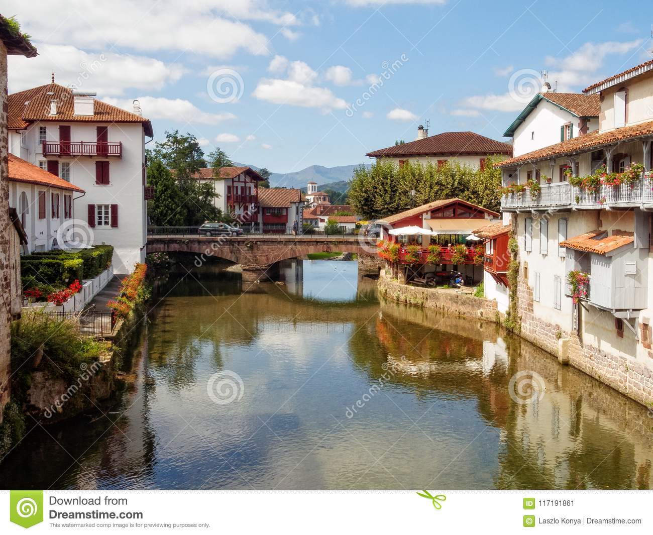 Saint Jean Pied De Port Nive River Saint Jean Pied De Port Stock Image Image Of Pied