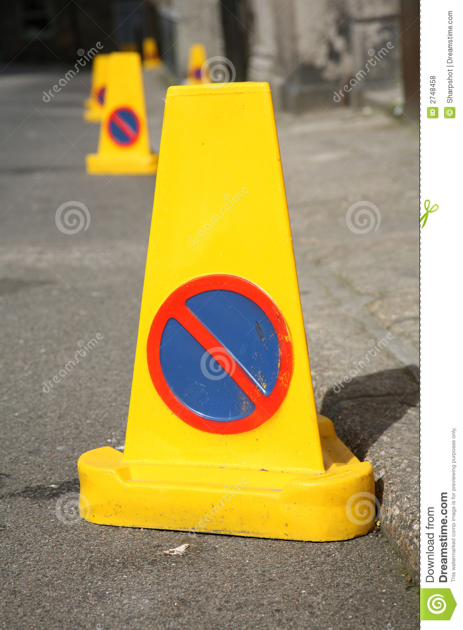 Dreamstime Images No Parking Cones Royalty Free Stock Photos Image 2748458
