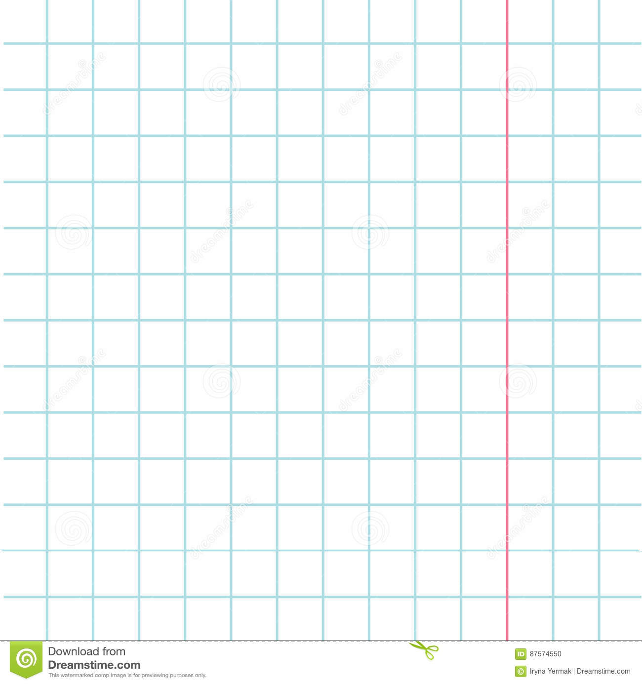 Notebook Paper Texture Cell Template With Red Pink Line Squared