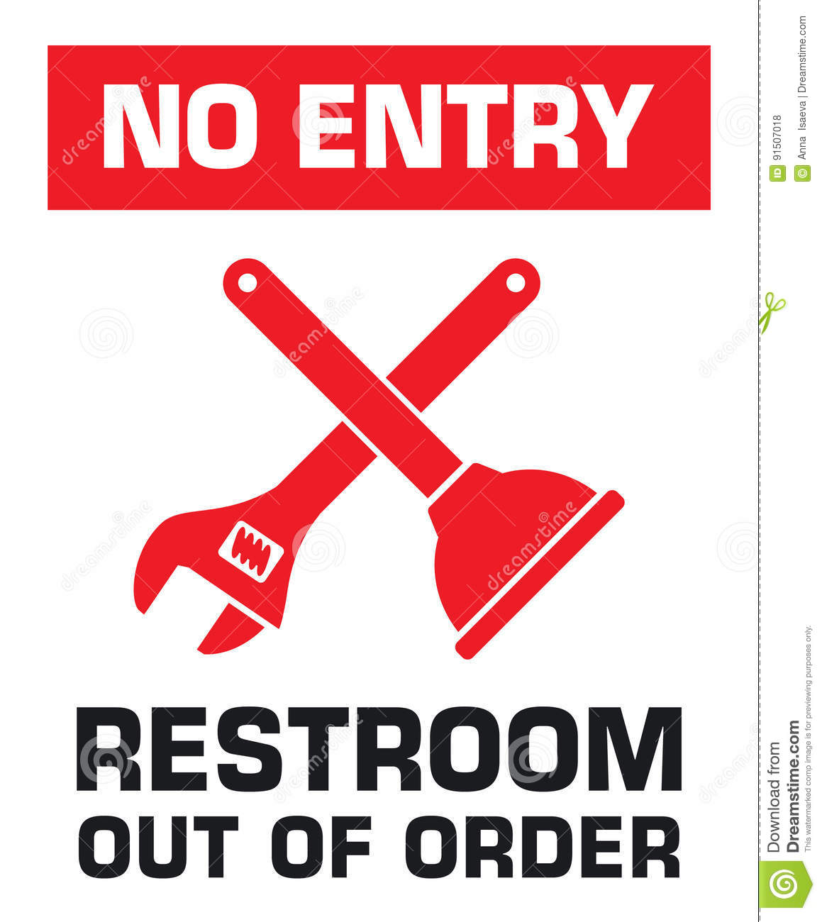 Bathroom Out Of Order no bathroom sign