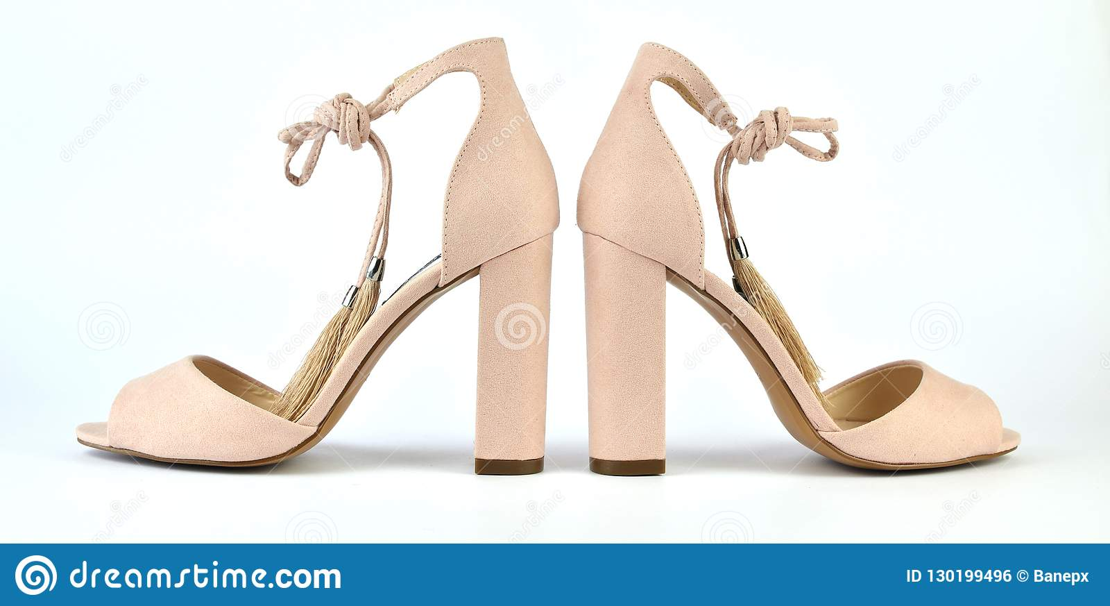 Nude Look Nude Look High-heeled Sandals Stock Photo - Image Of Luxury, Modern: 130199496