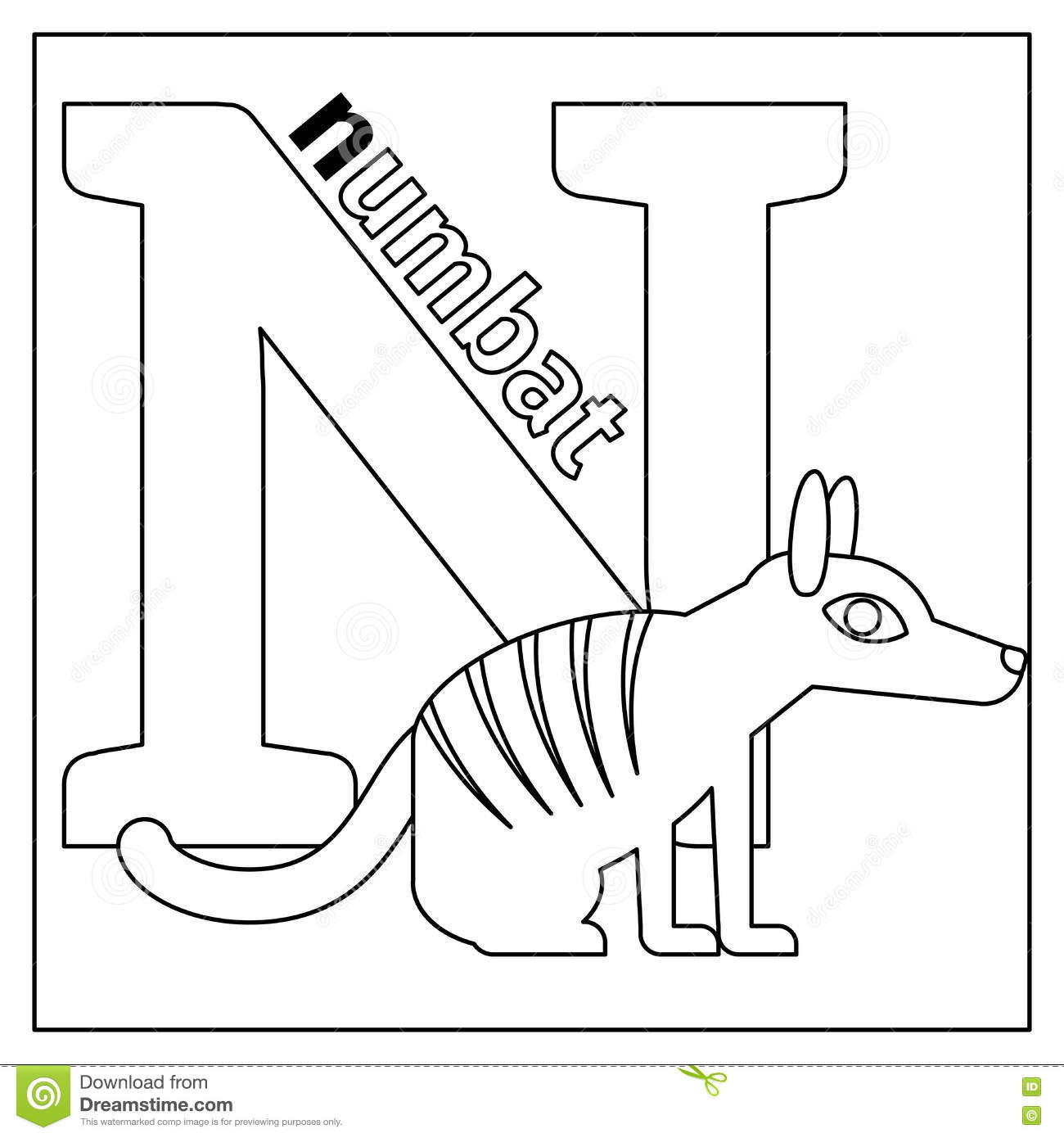 Letter n coloring pages preschool -  Letter N Coloring Page Download