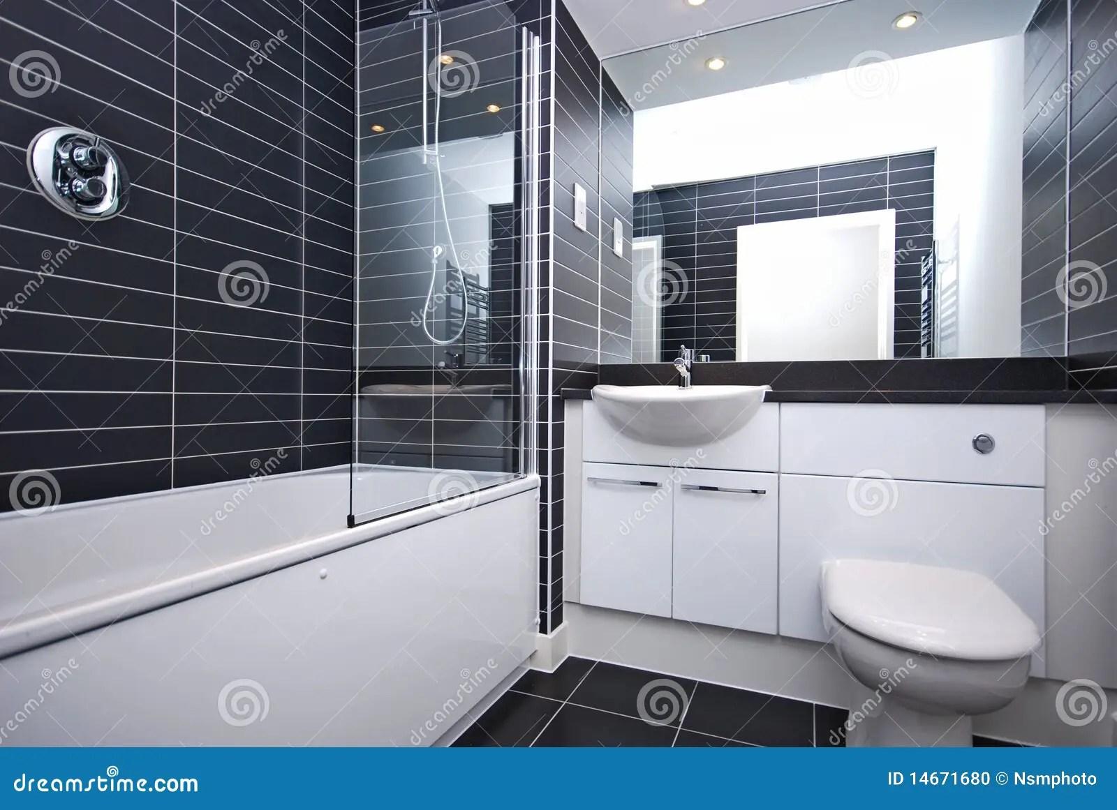 Bagno Moderno Bianco E Nero.Bagno Moderno Nero E Bianco Angolo Del Bagno Moderno Con Pareti
