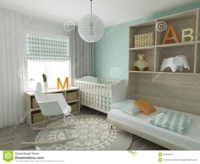 Nursery Interior Royalty Free Stock Photography - Image ...