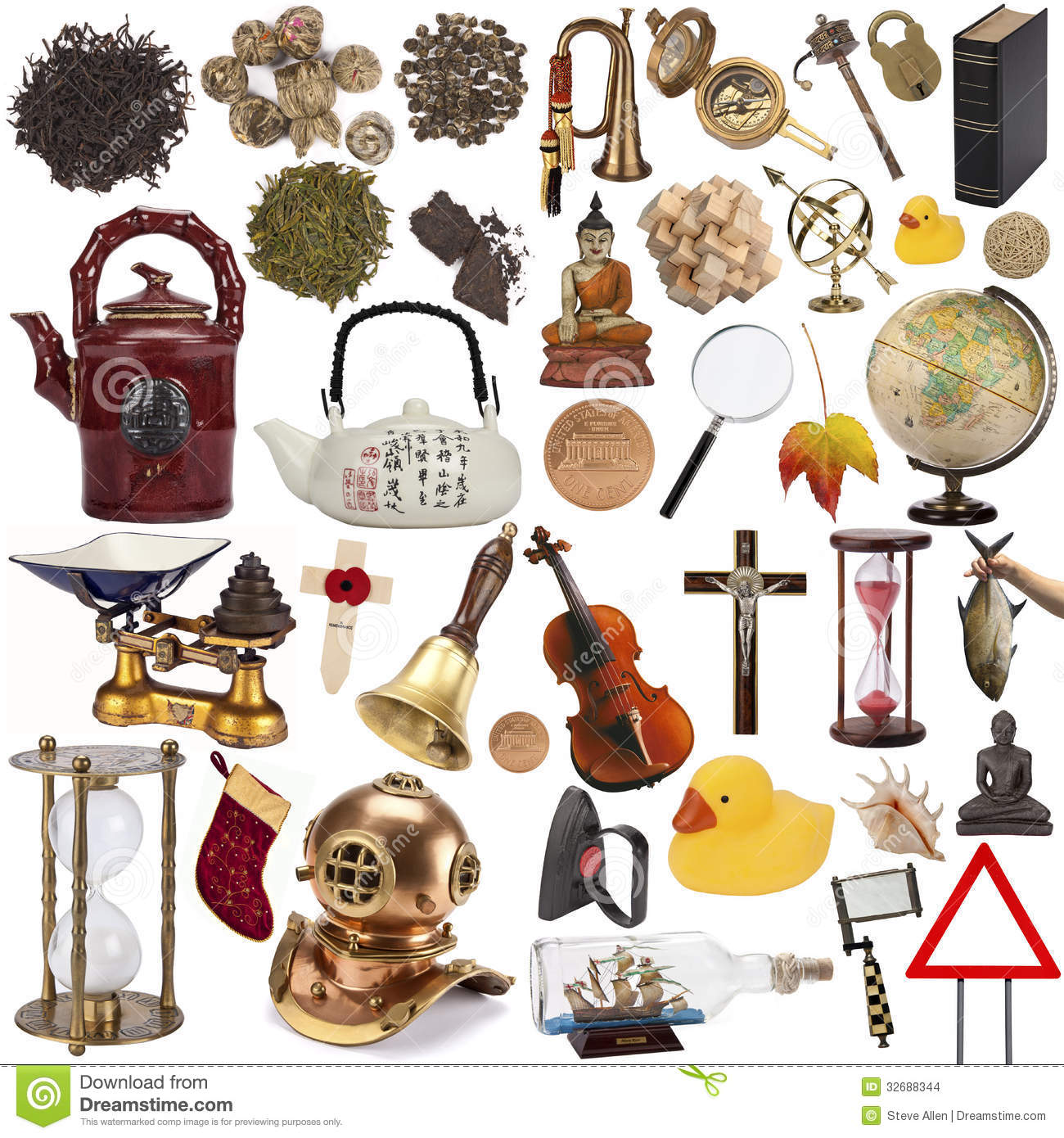 Alte Gegenstände Objects For Cut Out Isolated Stock Images Image 32688344