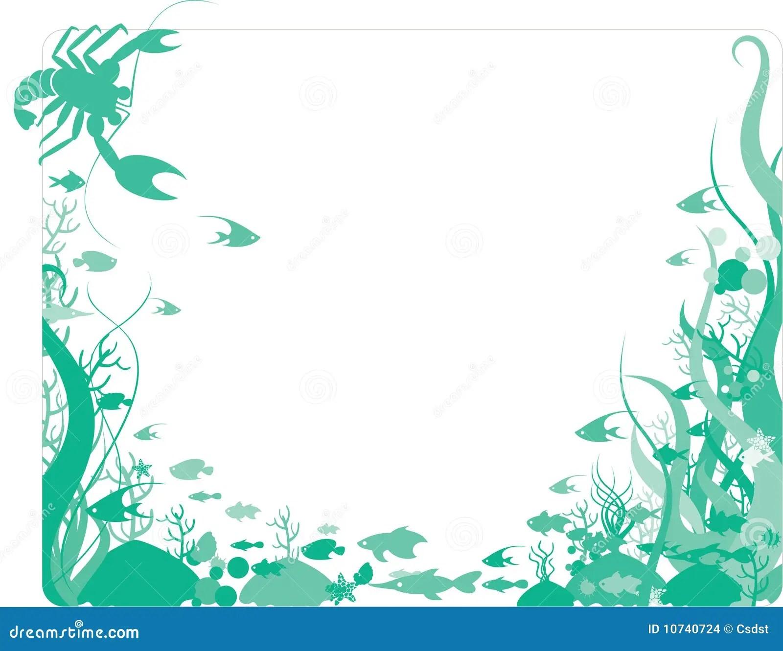 Baby Girl Wallpaper Borders Pink And Purple Ocean Border Stock Vector Image Of Swimming Swim