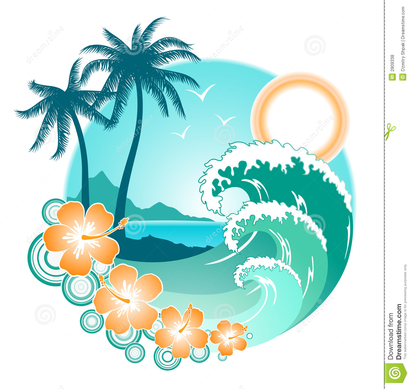 Ocean Inspired Decorating Ocean Design Stock Illustration Illustration Of