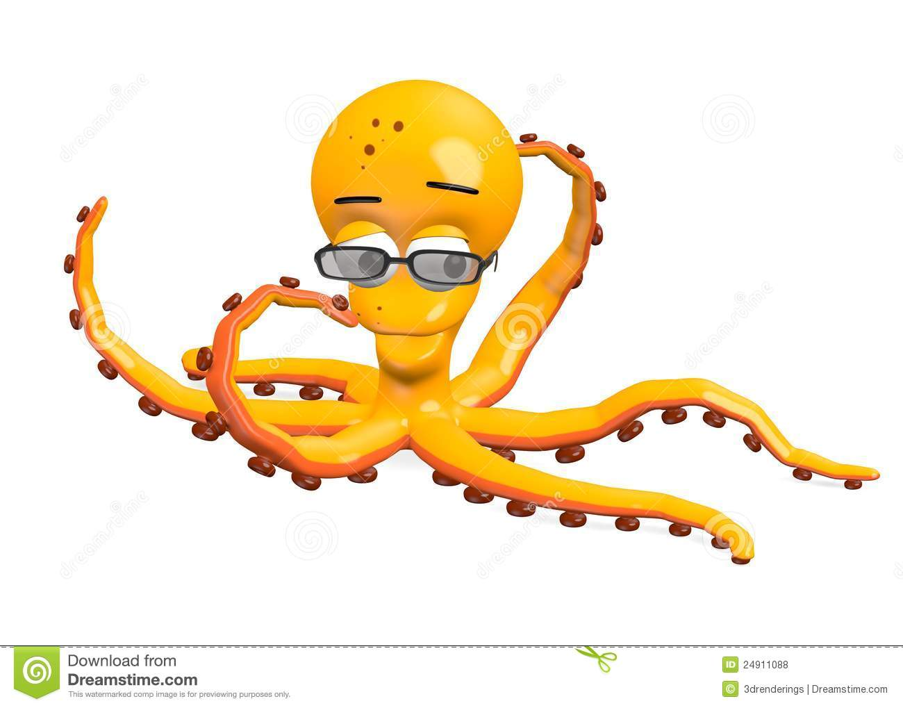 Octopus Glasses Octopus Character With Glasses Royalty Free Stock Photos