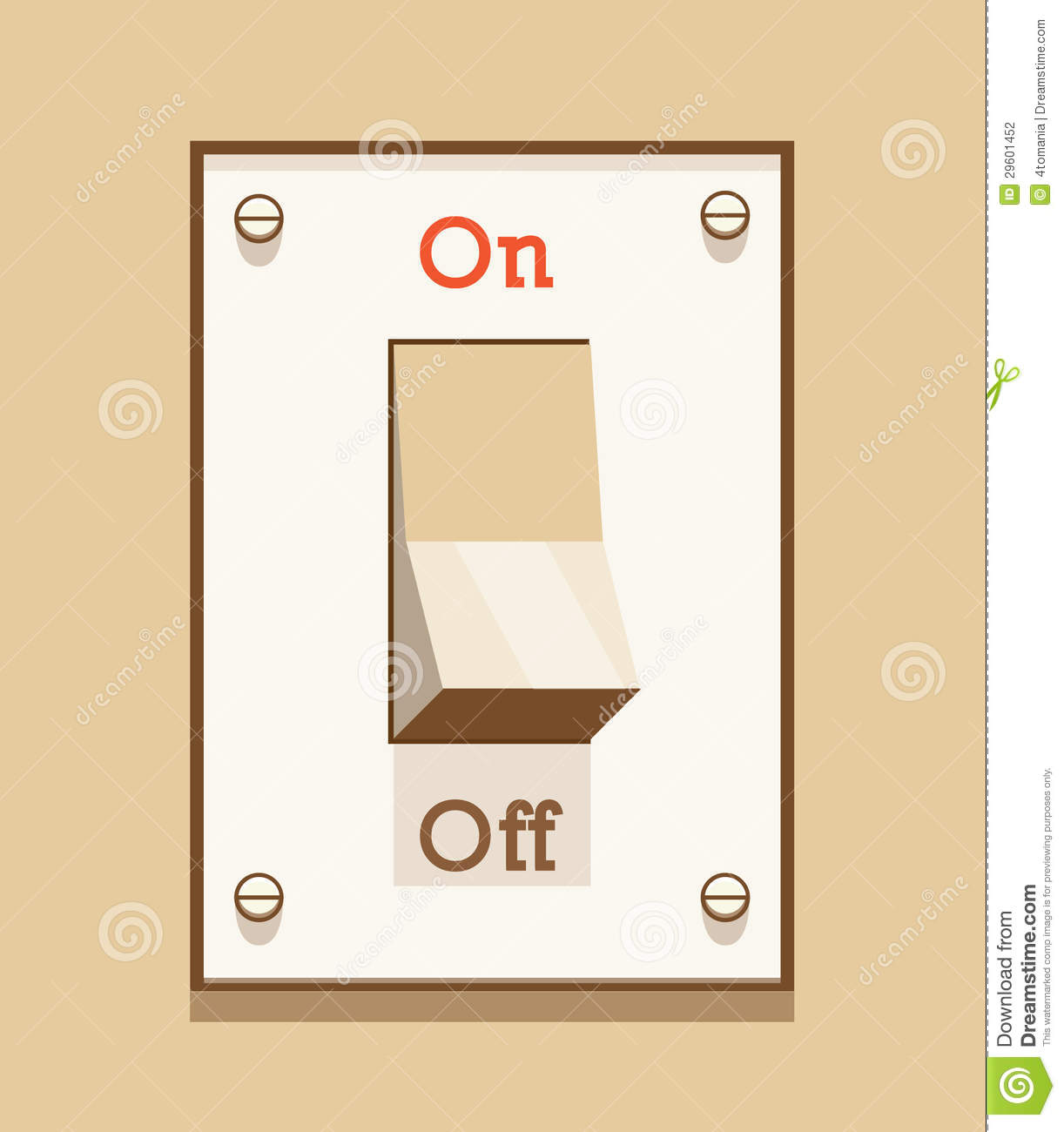 Light Switch Off Clipart On Off Light Switch Stock Vector Illustration Of Switch
