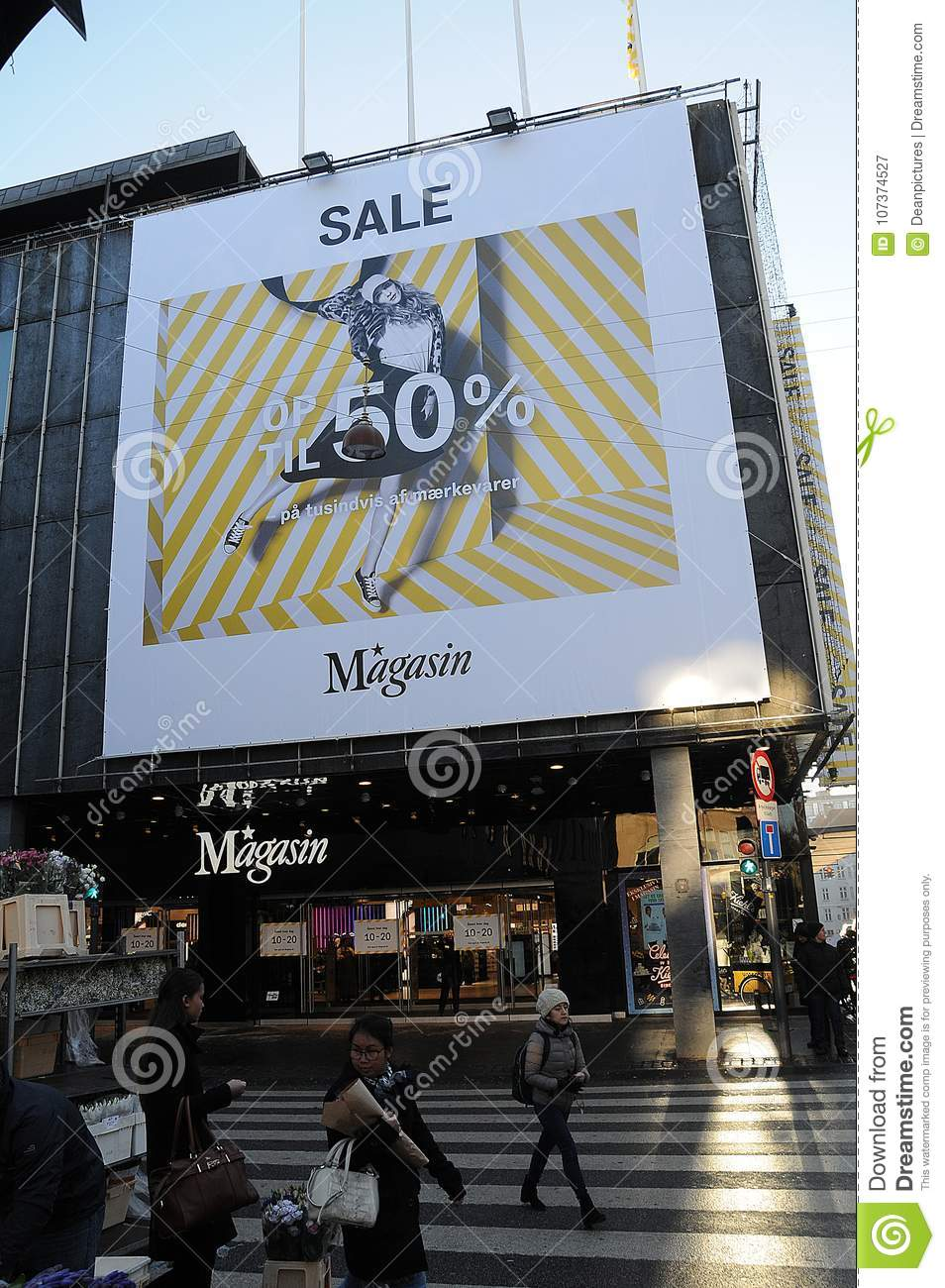 Store Banne Magasin 50 Off Sale At Magasin Du Nord Department Store Editorial
