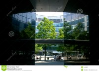 Office building patio stock photo. Image of modern, roof ...