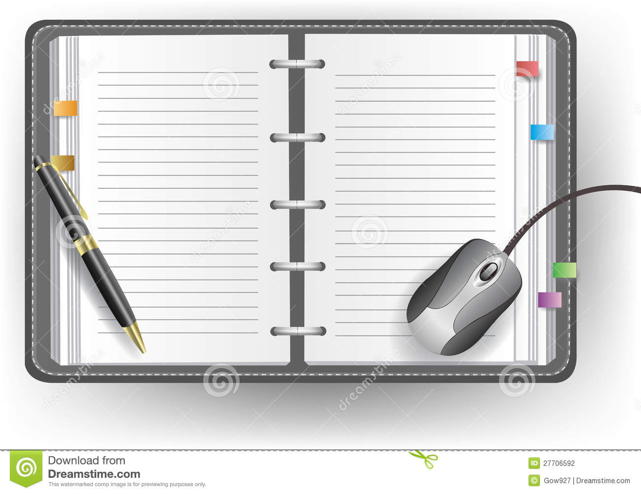 office diary template