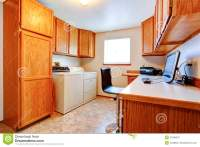 Office Room With Maple Cabinets Stock Photo - Image: 47580301