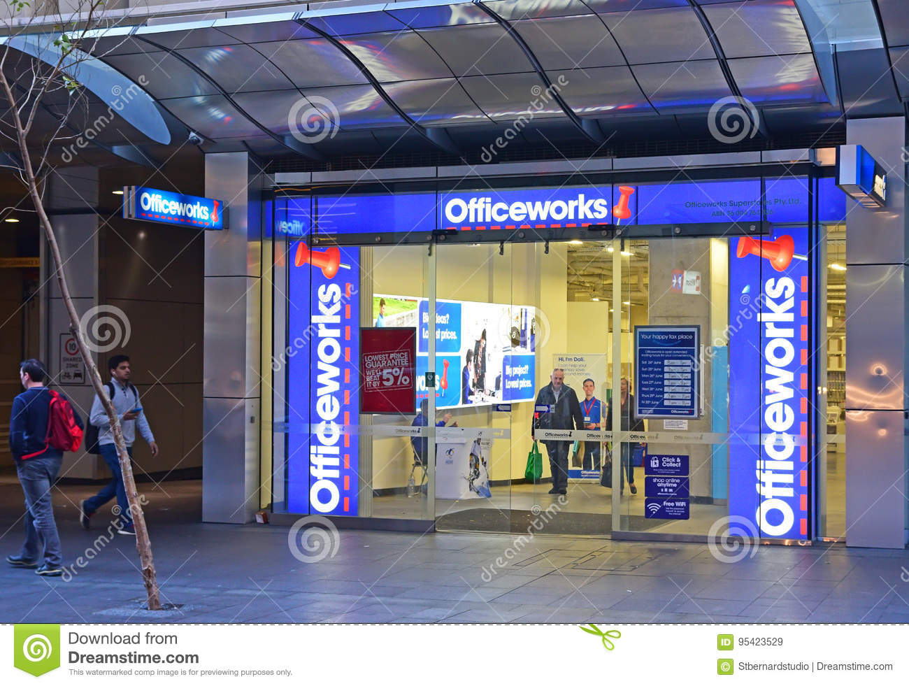 Office Stores Officeworks Store At Sydney Central Business District Editorial