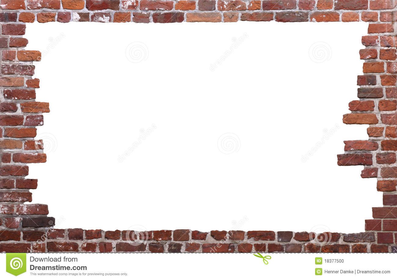 Royalty free stock photo download old brick wall as a frame 01