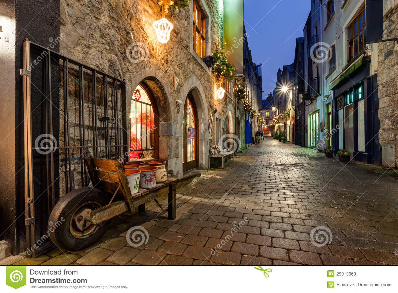 Barbie Hd Wallpapers Free Download Old City Street At Night Stock Photo Image Of City