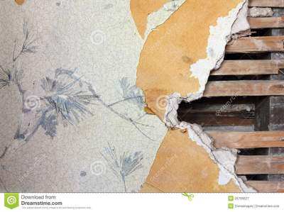 Old Wallpaper Wall stock image. Image of ripped, board - 26795627
